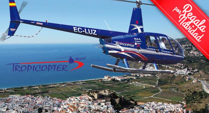 Esta Navidad regala este romántico Vuelo en Helicoptero por la costa de Granada