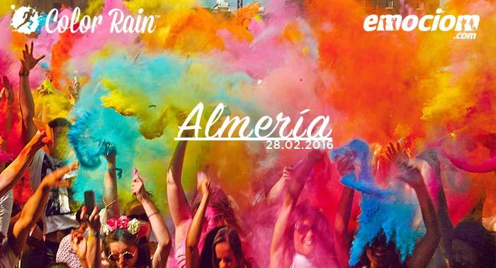 ¡COLOR RAIN™ BY EMOCIOM 2ª Edición! Ya está aquí la Carrera más colorida de Almería. ¡Apúntate!