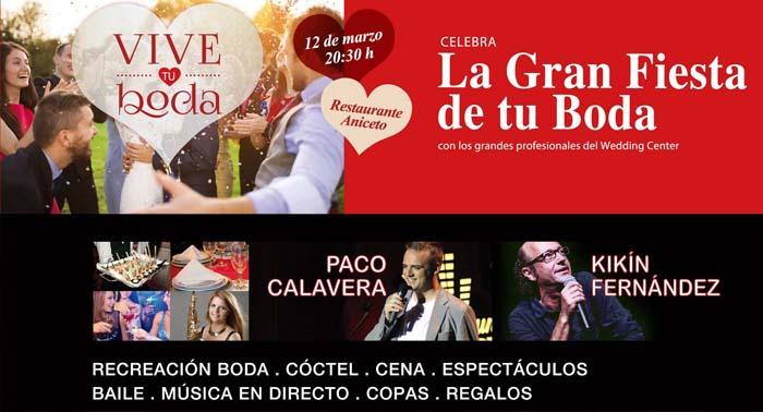 """Entrada a La Gran Fiesta """"Vive tu Boda"""" con cena, monológos, cóctel, copas, regalos y mucho mas"""