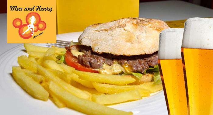 2 Burgers/Bocadillos + 2 Bebidas + Patatas Especial o CheeseBacon. El bar de LA QUE SE AVECINA!
