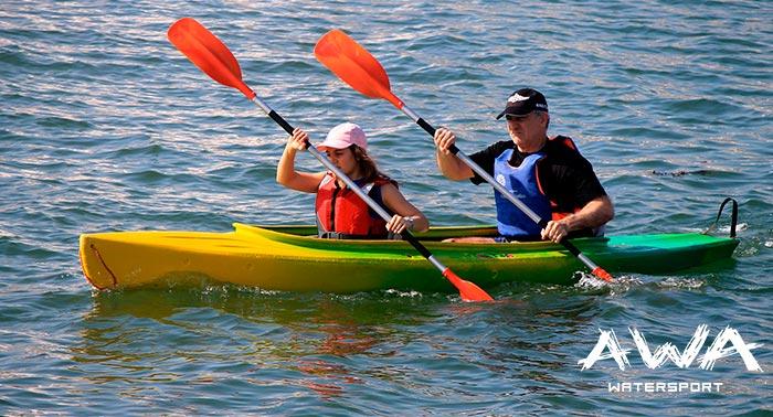 ¡Navega por nuestra costa y diviértete! Para 2 personas: Alquiler Kayak + Snorkel