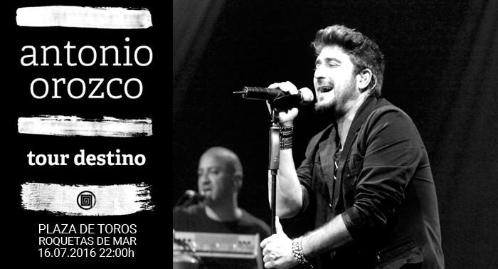 Entradas para el concierto de Antonio Orozco. Tour Destino