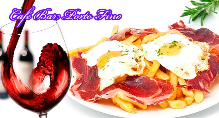 ¡A comer! 2 Cañas o Tinto de Verano o Mosto + 2 Tapas + Ración de Huevos con Jamón