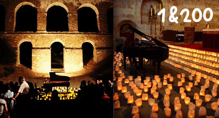 Concierto 1piano & 200velas en el Acueducto Romano de Almuñécar. ¡Sorpréndete con David Gómez!