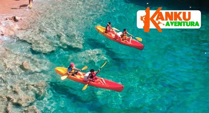 ¡Aventúrate! Ruta de 3h en Kayak por el Parque Natural + Snorkel + Reportaje fotográfico