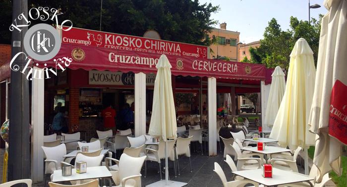 De tapeo en Kiosko Chirivía: Jarra de Cerveza o Tinto de Verano 1,5L + 6 Tapas