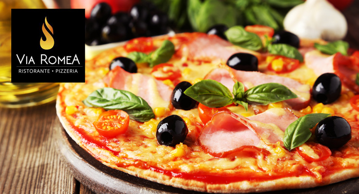 ¡Saborea Italia! 2 Bebidas + 2 Pizzas en Restaurante Via Romea