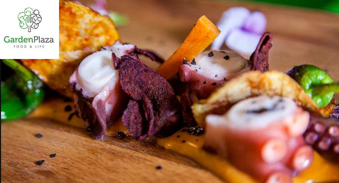 Auténtica y Deliciosa Comida Creativa en Garden Plaza ¡Elige tu plan!
