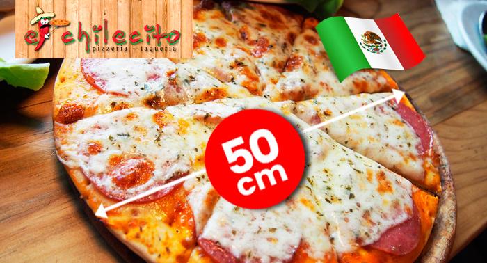 Pizza Gigante de 50cm para llevar ¡Sin restricciones, elige entre todas las variedades!