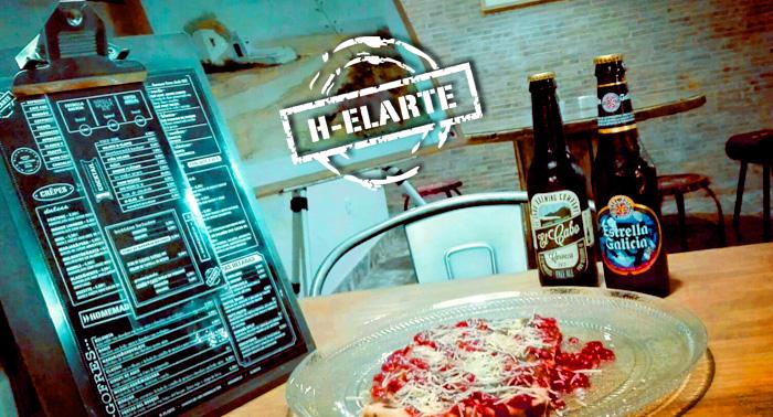 ¡Un menú diferente en H-ELARTE! Delicioso Crepe Salado Gourmet + 1 Cerveza o Refresco