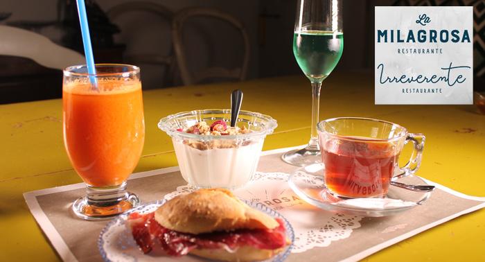 Tu desayuno más completo en La Milagrosa Irreverente ¡Comienza la mañana con energía!