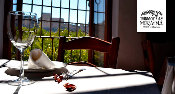 Cervezas o Botella de Vino Natural + Tapas con Vistas a la Alhambra en el Mirador de Morayma
