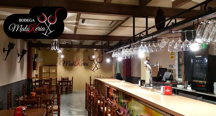 ¡Tu nuevo bar de tapas en el Puerto de Aguadulce! 4 Bebidas + 4 Tapas en Bodega MaloKeria