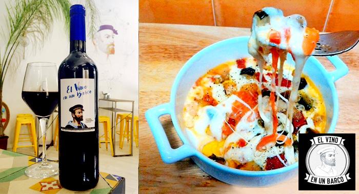 Botella de Vino El Vino en un Barco + 6 Tapas + Ración a elegir en pleno centro