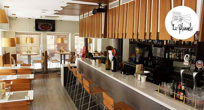 Menú para 2 en La Plazuela con opción a 2 Copas Premium ¡La velada perfecta en pleno centro!