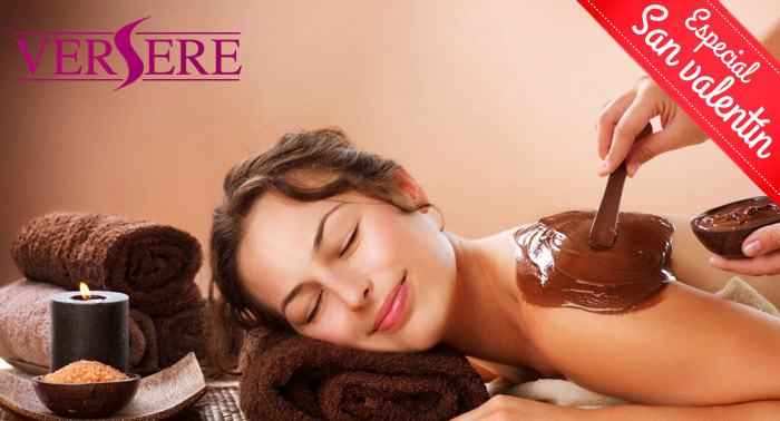 ¡En San Valentín el regalo más dulce! Masaje relajante con Chocolaterapia y crema de naranja.