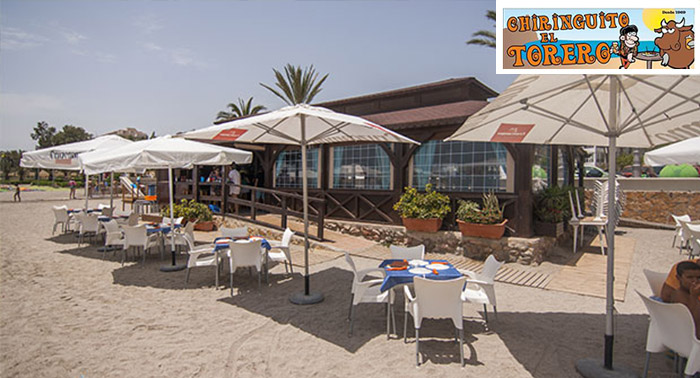 Disfruta de una rica paella para 2 personas en primera línea de playa en Aguadulce