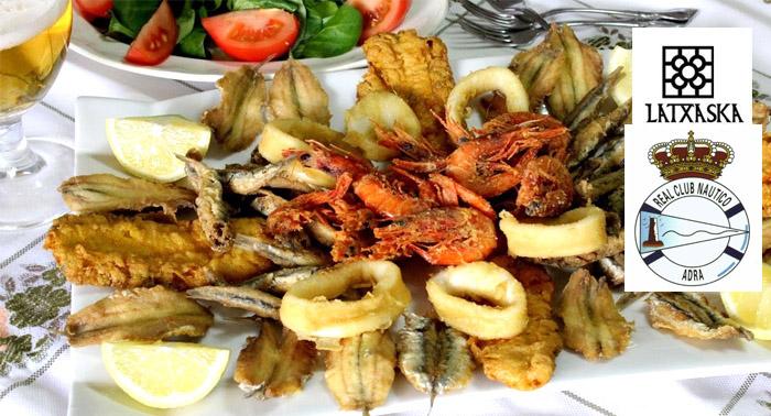 Para 2: Fritura de pescado + Ensalada + Bebidas + Postres en el Club Náutico de Adra