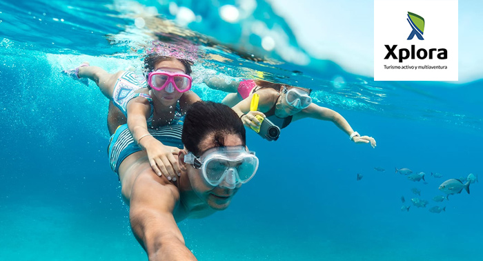 Ruta en Kayak por Las Negras-Playazo o Escullos + Snorkel + Reportaje fotográfico por 18€