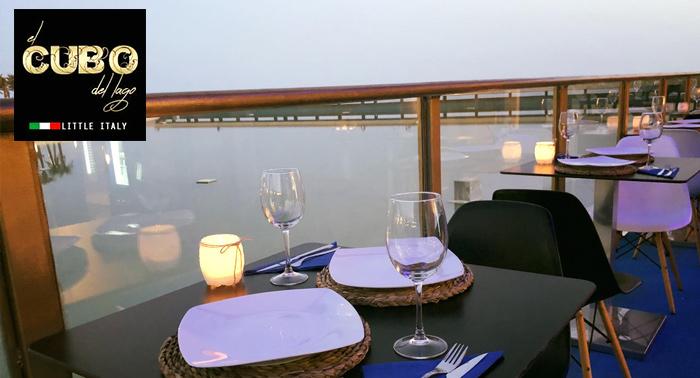 Cena romántica para 2 en el Cubo del Lago de la Plaza del Mar