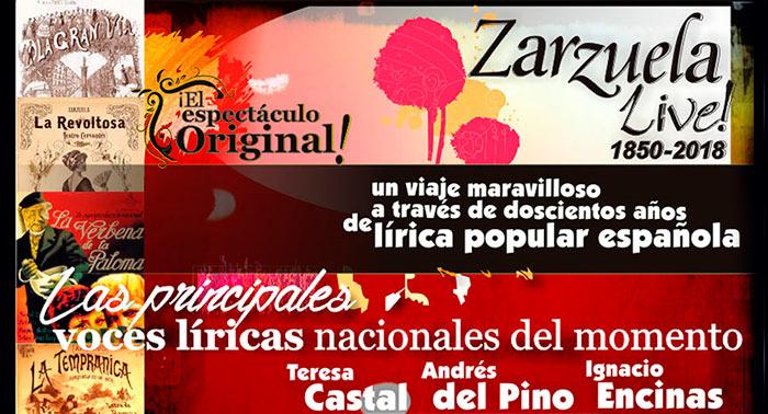 El Espectáculo Original de 'La Zarzuela Live! 1850-2018' en Teatro Cervantes