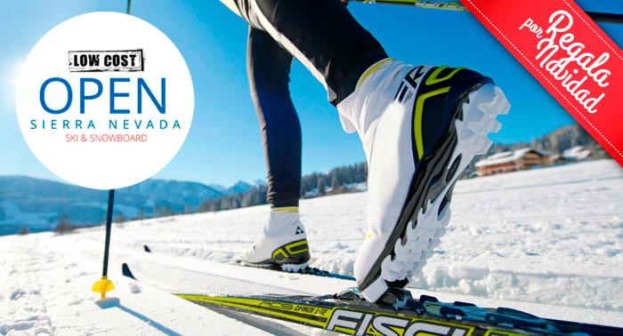 ¡Regala ocio en Sierra Nevada con 1, 2 ó 3 días de alquiler de equipo de Esquí o Snowboard!