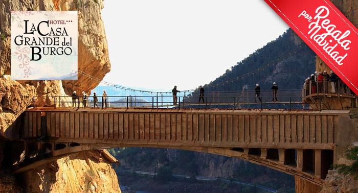 Escapada para 2 pax a El Burgo: 1 o 2 Noches de Alojamiento + Ruta por el Caminito del Rey