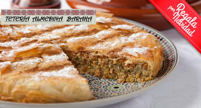 ¡Plan Delicioso! Menú Árabe a compartir para 2 pax en el Restaurante Tetería Almedina Baraka
