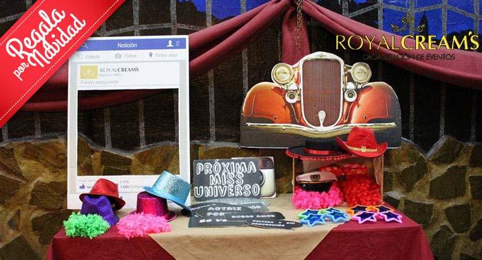 Recuerdo original y divertido para cualquier evento: ¡Fotomatón + Disfraces con Royal Cream's!
