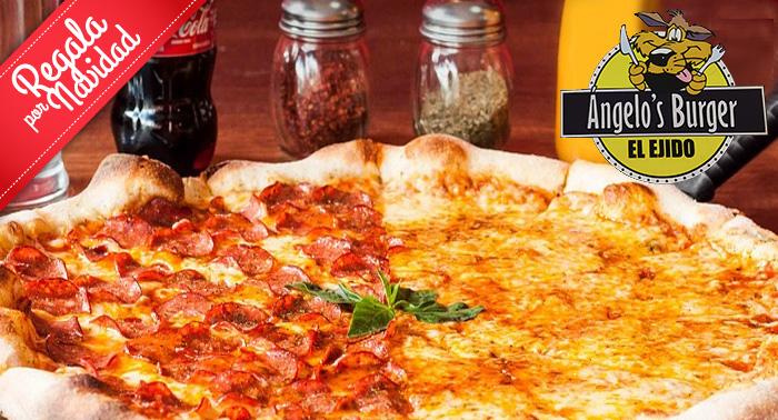 ¡Un plan mítico! Hamburguesa XXL, Bocadillo, Perrito o Pizza Mediana + 1/2 Litro de Refresco