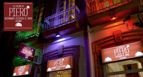 La mejor comida italiana en La Cocina de Piero: Pizza, Pasta, Risotto... + Entrante + 2 Bebidas