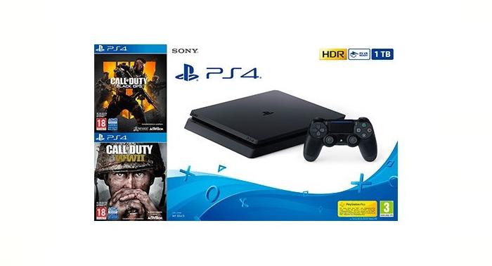 Máxima capacidad y diversión con la Consola Sony PS4 1TB + Call of Dutty... ¡a divertirse!