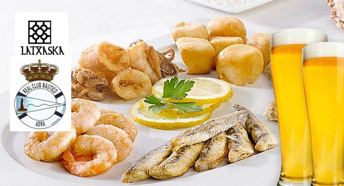 Exquisito Menú para 2 pax: Paella de Marisco o Fritura de Pescado en el Club Náutico de Adra