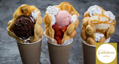¡La merienda más golosa a pie de playa! 2 Bubble Waffles al precio de uno... ¡Irresistibles!