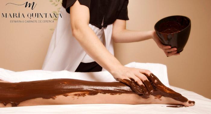 ¡Dulce y Relajante Tratamiento de Chocoterapia: Peeling + Mascarilla + Masaje Corporal!
