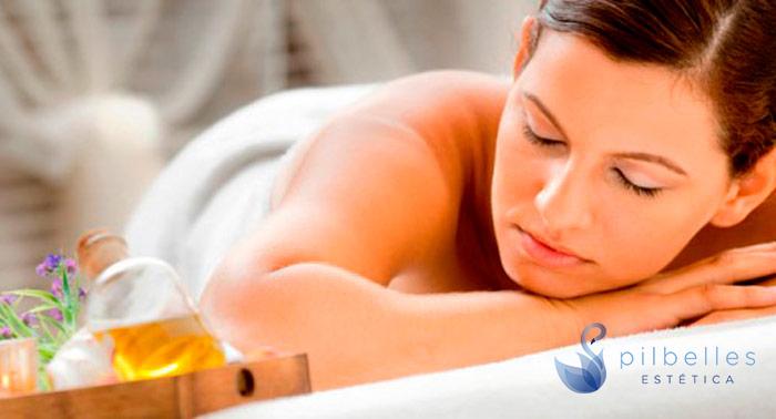 Masaje Relajante de 45 min con aceites esenciales y aromaterapia de Natura Bissé. ¡Puro relax!