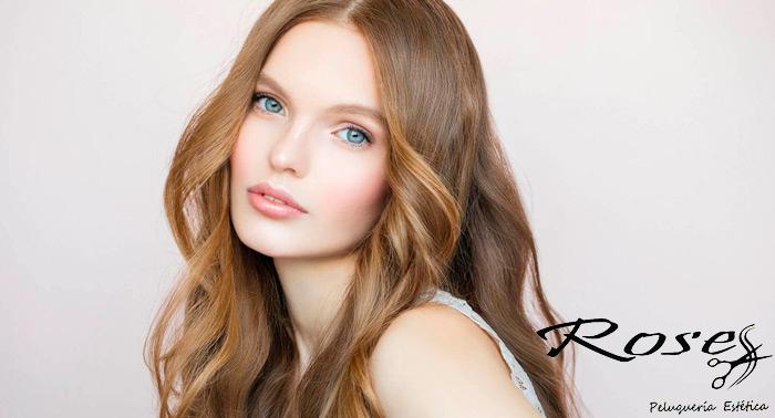 Cambia tu look con una completa sesión de belleza: Tinte + Corte + Peinado en Roses Peluquería