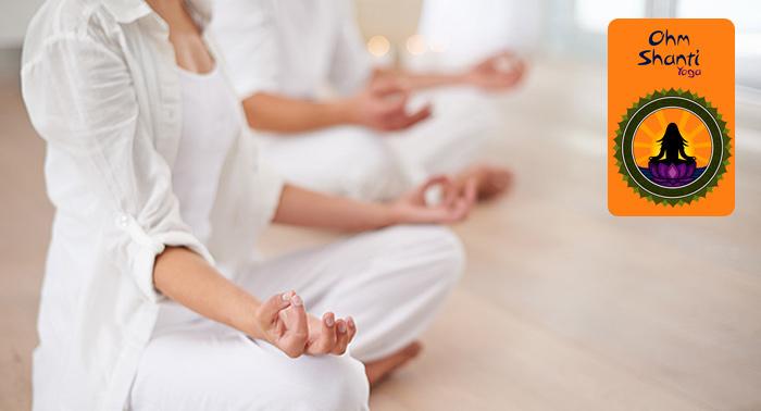 ¡Encuentra la paz y el bienestar! 8 o 16 Clases de Yoga Kundalini para Adultos en Ohm Shanti