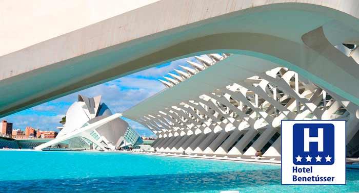 Escapada a Valencia: Noches de Alojamiento + Desayuno Buffet en Hotel Benetusser****