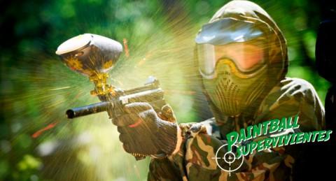 ¡Al la batalla! Paintball con todo el Material + 50 o 100 Bolas + Fotos + 3 Escenarios