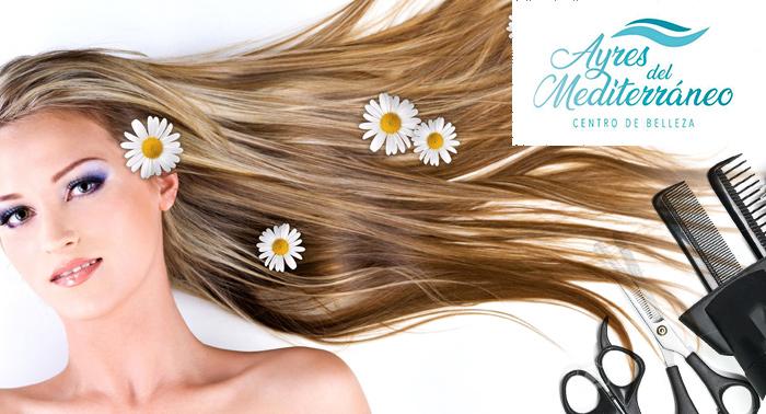Mima tu pelo en Ayres del Mediterráneo con una sesión de: Lavado + Masaje + Corte + Peinado