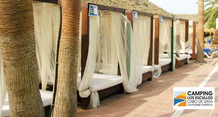 ¡Un día en el Parque Natural Cabo de Gata! Cama Balinesa + Camping + 2 Bebidas en Los Escullos
