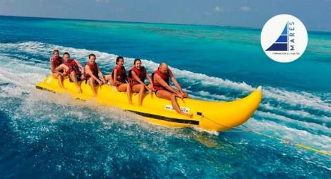 Disfruta con tus amigos de un Viaje en Banana en la Costa de Almerimar
