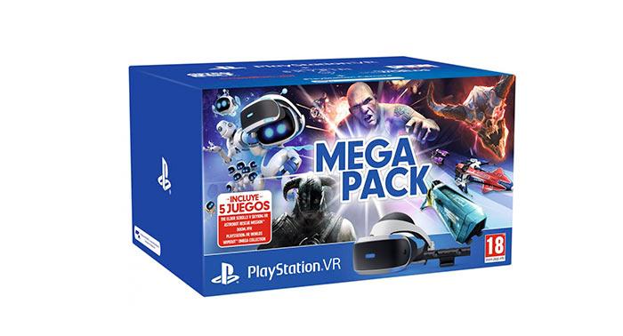 ¡Impresionantes Gafas Sony Playstation VR MK4 Mega Pack con 5 Juegos!