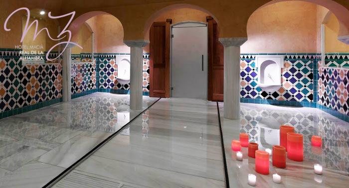 ¡Desconecta! Spa Árabe Real de la Alhambra + Opción a Masaje, Cena, Cava y Kit Romántico