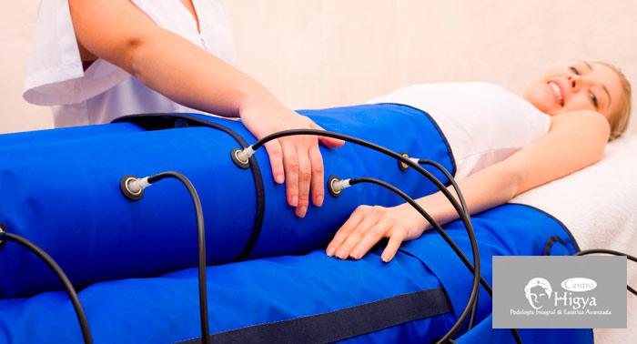 ¡Elimina la celulitis! 5 Sesiones de Presoterapia + Masaje Drenante en Centro Higya