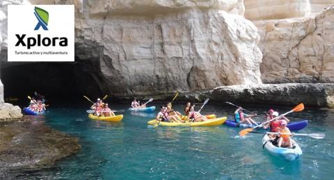 Ruta en Kayak por Parque Natural Cabo de Gata-Níjar + Snorkel + Reportaje Fotográfico + Bebida