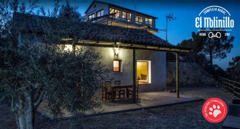 ¡Disfruta de la naturaleza! Cabaña Rural para 2 o 4 personas: 2 Noches de Alojamiento + Cena